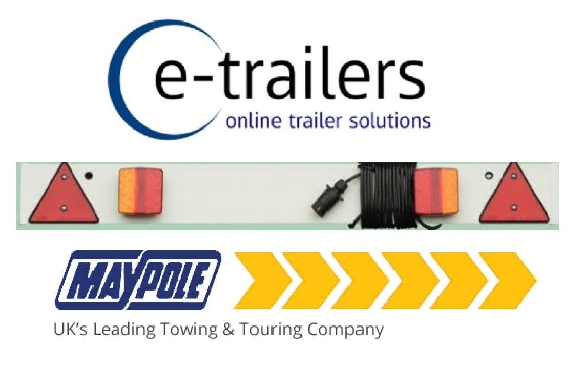 4ft Maypole LED Trailer Light Board 6m cable Tractor Jetski Boat dolly MP274PLED