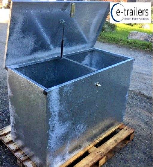 Galvanised corn animal feed farm waste recycling agricultural caravan site  box farm feed waste rubbish bin lockable metal box cornwall launceston
