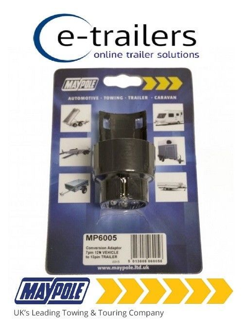 GENUINE 7 PIN TO 13 PIN PLUG TOWING TRAILER CONVERSION ADAPTER 12N MP6005 MAYPOLE