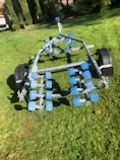 PRE OWNED EXTREME BOAT TRAILER 750kg ROLLER SWING CRADLE 16ft BOAT 5.3m RIBS 17ft DINGHY WARRANTY (1)