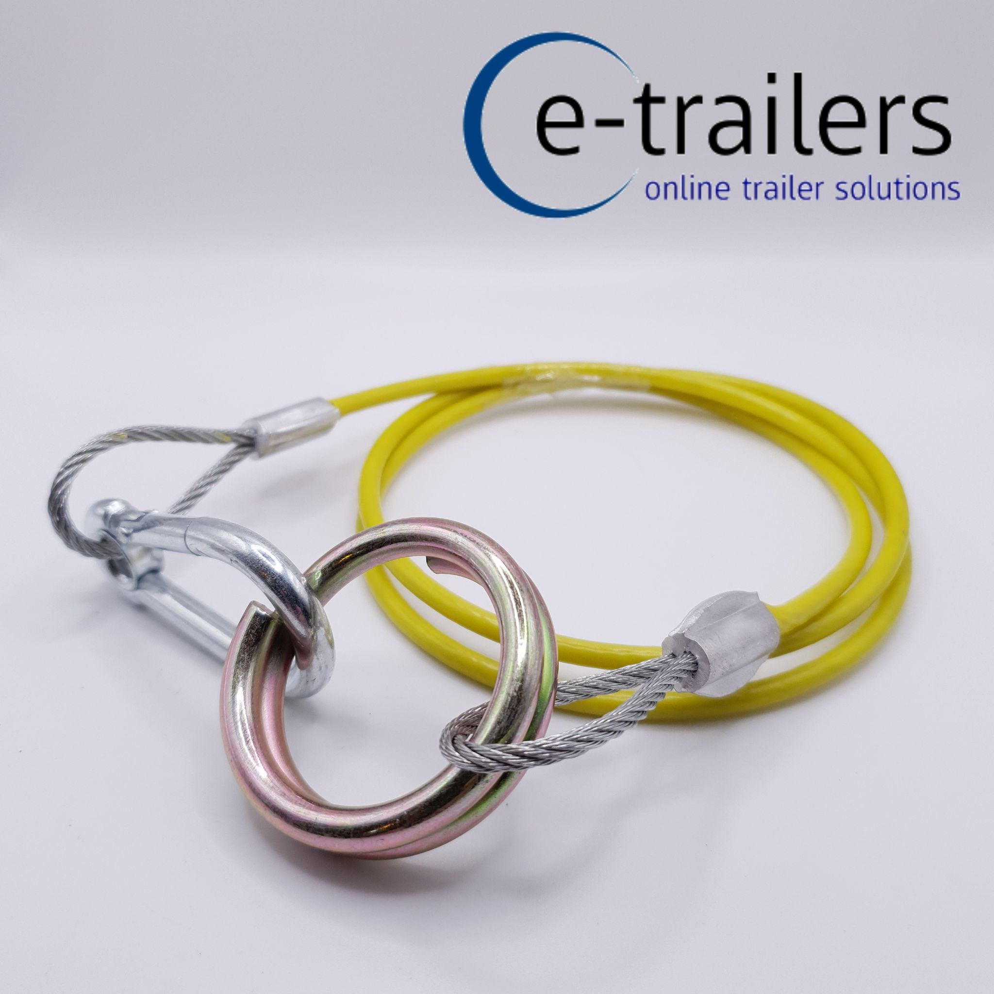 TRAILER BREAKAWAY CABLE FOR TOWING-HEAVY DUTY- QUICK RELEASE- IFOR WILLIAMS 2X TRAILER BREAKAWAY CABLE FOR TOWING- HEAVY DUTY QUICK RELEASE IFOR WILLIAMS yellow hi viz